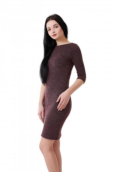 Купить платье сиреневое в лапку Деловая женская одежда фото