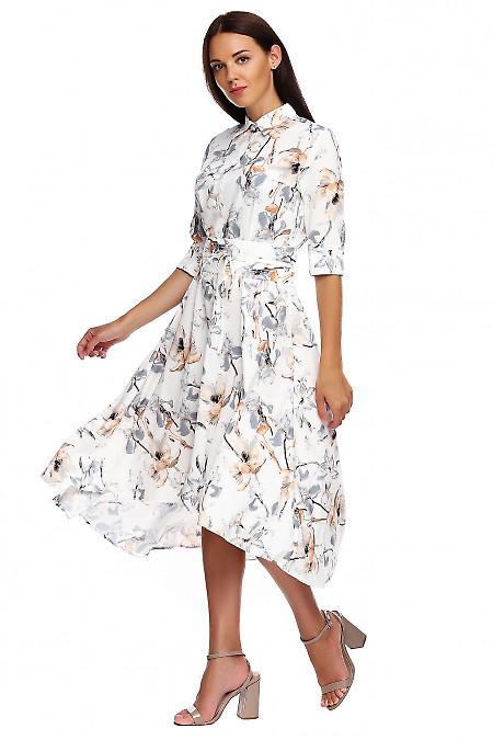 Купить пышное платье в лилии. Деловая женская одежда фото