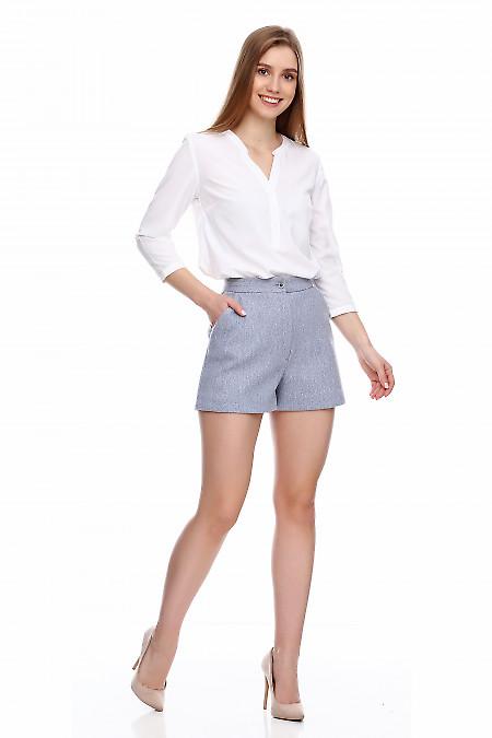 Купить теплые серые шорты. Деловая женская одежда фото