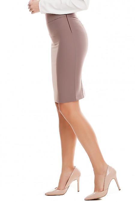 Купить юбку хаки с кантом в поясе Деловая женская одежда фото