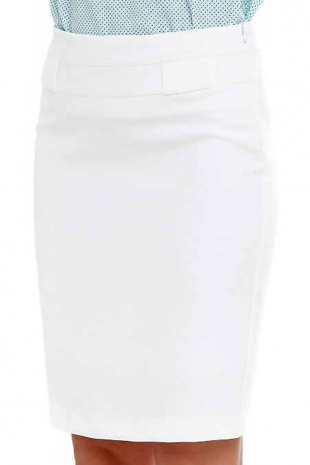 Купить юбку молочную на кокетке. Деловая женская одежда фото