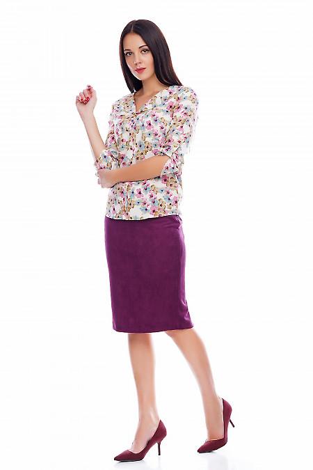 Юбка теплая цвета фуксия Деловая женская одежда фото