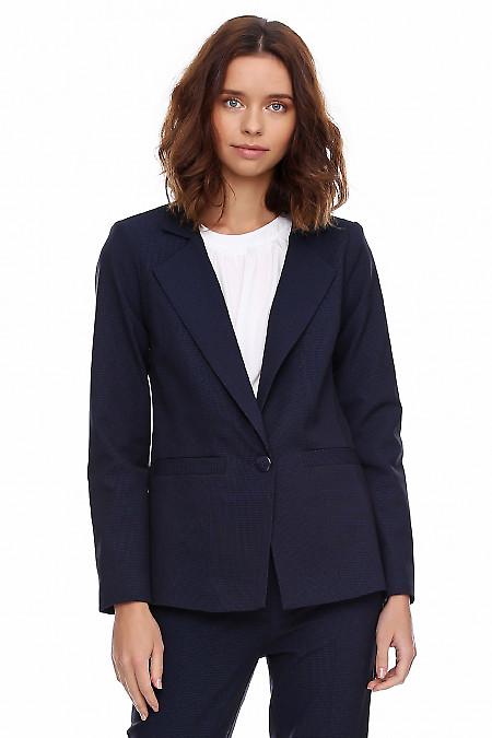Жакет женский синий в мелкую синюю полоску. Деловая женская одежда фото