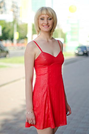 Платье коктельное красное Деловая женская одежда