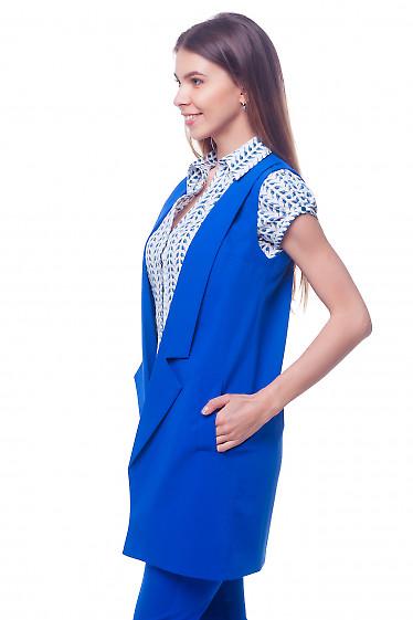 Купить длинный женский жилет Деловая женская одежда