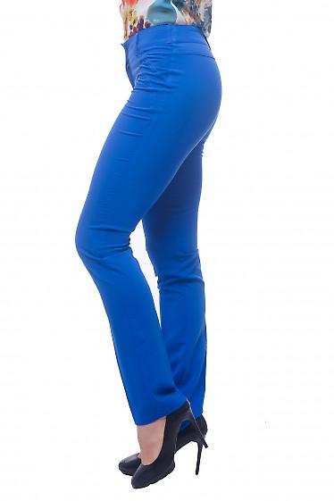 Купить брюки электрик с отстрочкой на кармане Деловая женская одежда фото