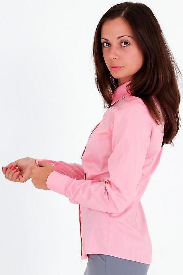 Фото Блузка бледно-розовая вид сбоку Деловая женская одежда