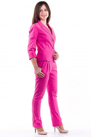 Фото Брюки розовые с бантиками Деловая женская одежда