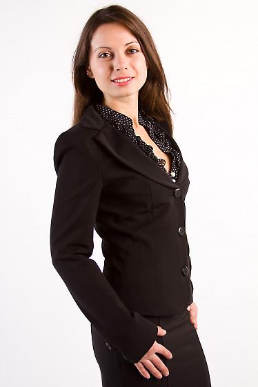 Фото Жакет черный Деловая женская одежда