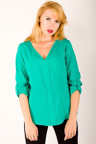 Фото Блузка с патой Деловая женская одежда