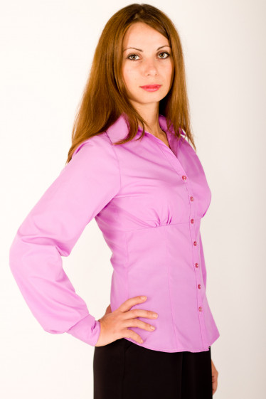 Фото Блузка хлопковая Деловая женская одежда