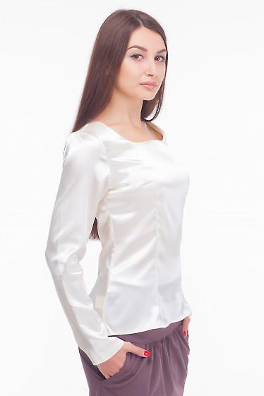 Купить атласную блузку с длинным рукавом Деловая женская одежда