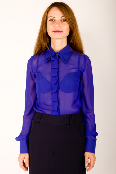 Фото Блузка с длинным рукавом Деловая женская одежда