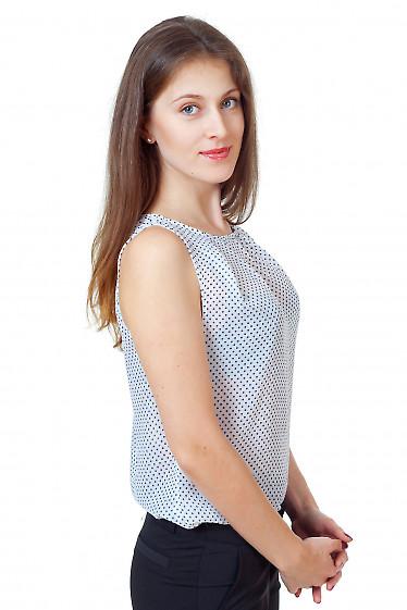 Купить белый топ в горошек Деловая женская одежда