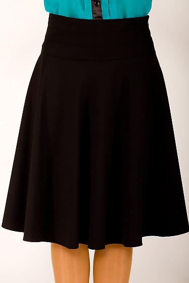 Фото Юбка черная солнцеклеш Деловая женская одежда