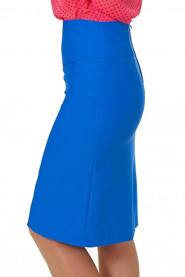 Купить ярко-синюю юбку Деловая женская одежда