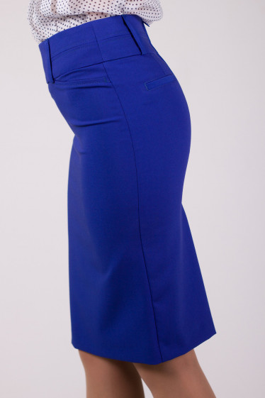 Фото Юбка синяя Деловая женская одежда