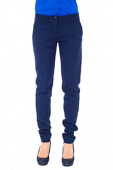 Купить женские синие теплые брюки Деловая женская одежда