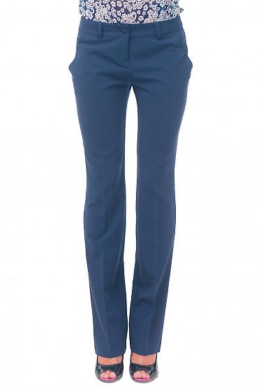 Брюки синие женские прямые Деловая женская одежда