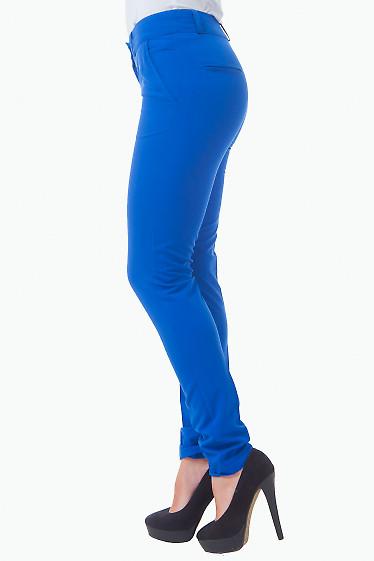 Купить брюки зауженные цвета электрик Деловая женская одежда