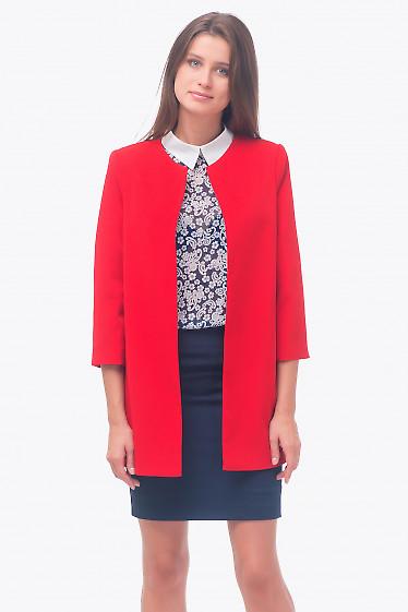 Кардиган ярко-красный Деловая женская одежда