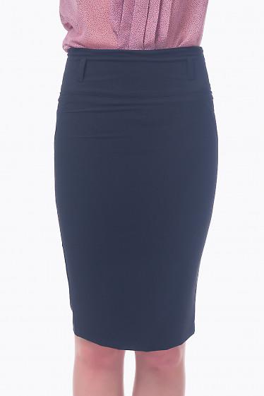 Фото Юбка-карандаш черная узкая Деловая женская одежда