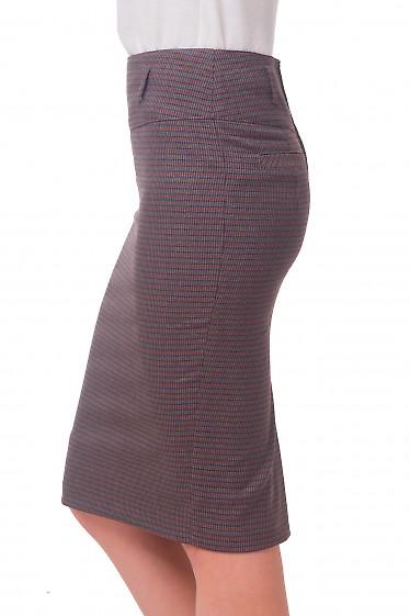 Купить юбку-карандаш в коричневую полоску Деловая женская одежда