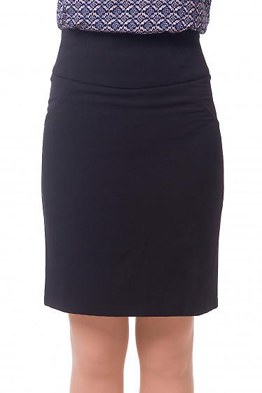 Юбка черная теплая с рельефами Деловая женская одежда