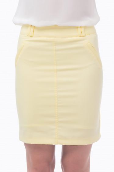 Фото Юбка короткая лимонного цвета Деловая женская одежда