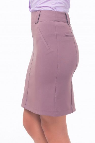 Купить юбку сиреневую с карманами обманками Деловая женская одежда