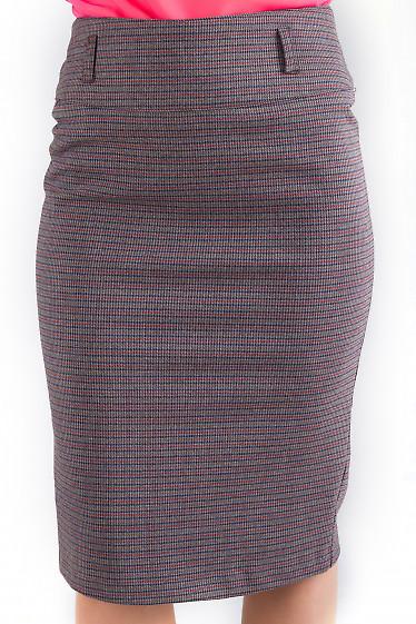 Фото Юбка теплая в мелкую клетку Деловая женская одежда