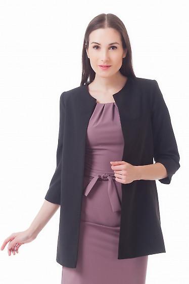 Жакет-кардиган черный Деловая женская одежда