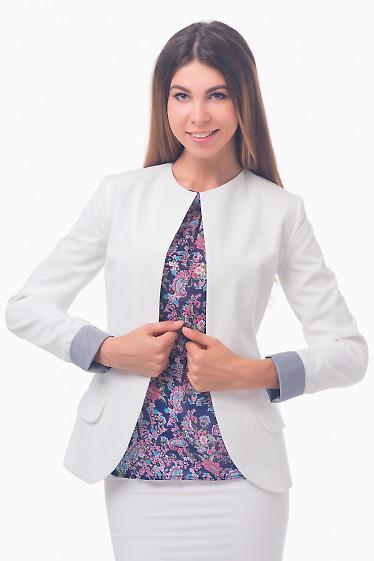 Фото Жакет удлиненный молочный Деловая женская одежда