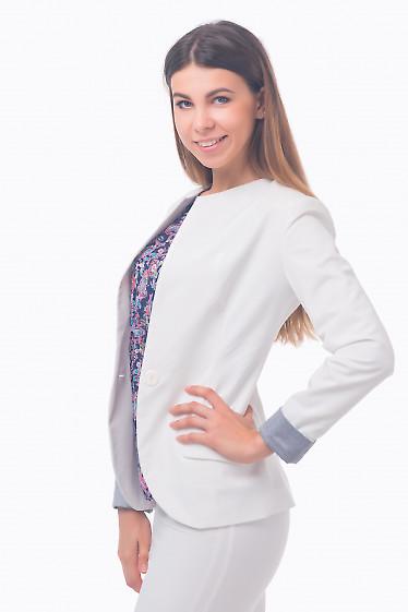 Фото Жакет с манжетой в полоску Деловая женская одежда