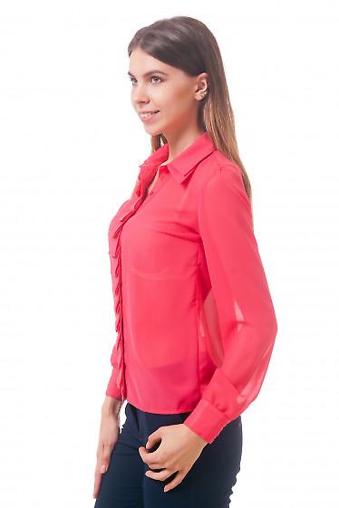 Фото Блузка коралловая Деловая женская одежда