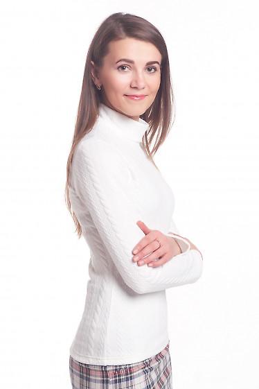 Купить белую тунику со стойкой Деловая женская одежда