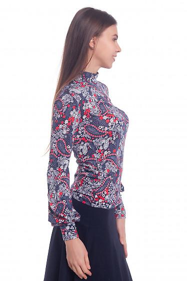 Купить гольф синий в цветочек Деловая женская одежда