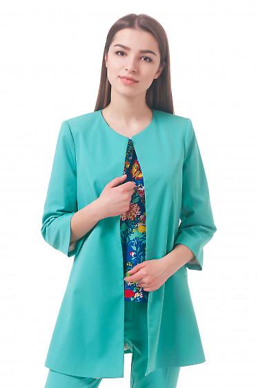 Фото Кардиган бирюзовый Деловая женская одежда