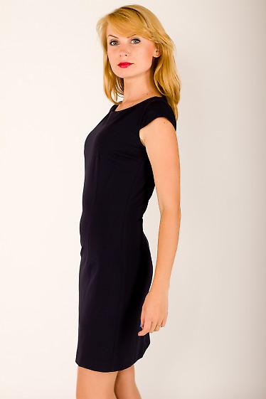 Фото Платье-футляр темно-синее Деловая женская одежда