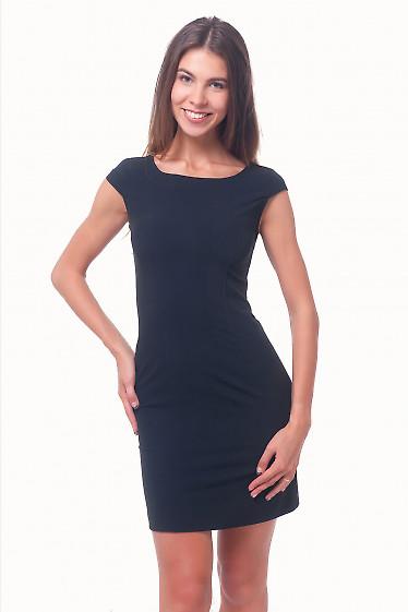 Платье черное строгое с рукавчиком Деловая женская одежда