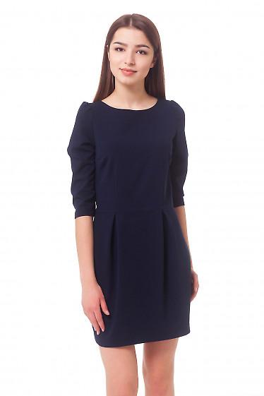 Темно-синее платье с юбкой-тюльпаном Деловая женская одежда