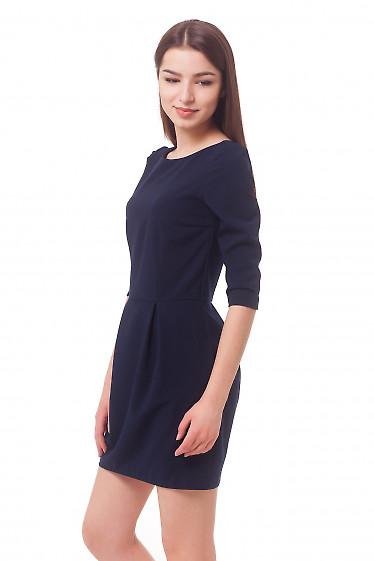 Купить темно-синее платье с юбкой-тюльпаном Деловая женская одежда