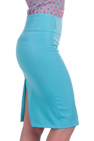 Фото Юбка голубая Деловая женская одежда
