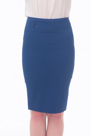Фото Юбка-карандаш темно-синяя Деловая женская одежда