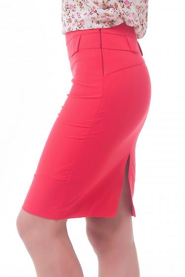 Купить юбку красную с двойным поясом Деловая женская одежда