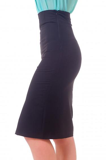 Фото Юбка с разрезом спереди Деловая женская одежда