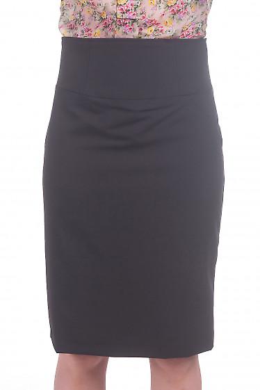 Фото Юбка с высокой талией черного цвета Деловая женская одежда