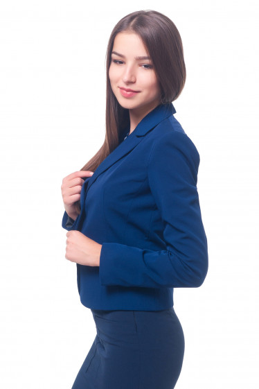 Купить жакет женский синий классический Деловая женская одежда