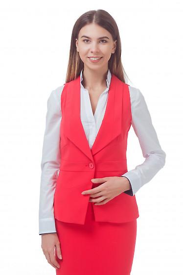Жилет удлиненный коралловый Деловая женская одежда