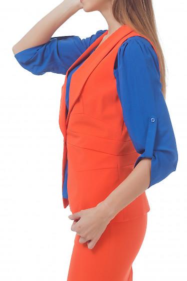 Купить жилет удлиненный оранжевый Деловая женская одежда